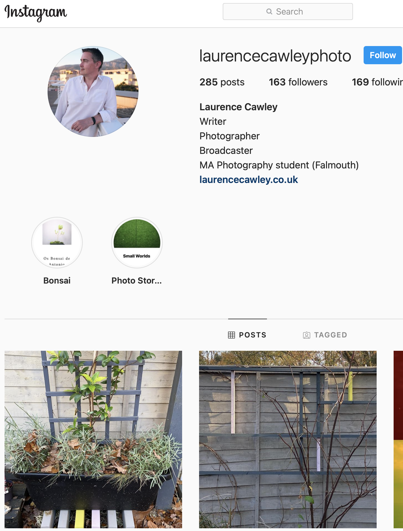 Laurence Cawley Instagram Feed